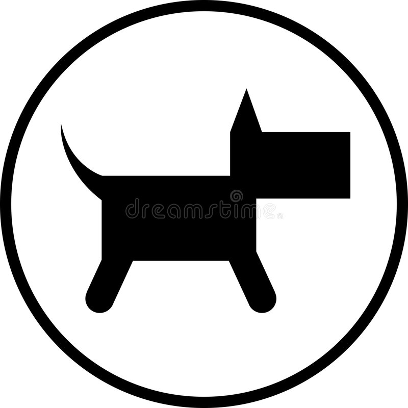 Het symbool van de hond vector illustratie