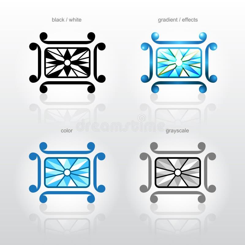 Het symbool van de identiteit voor de bedrijven van de juwelenindustrie vector illustratie