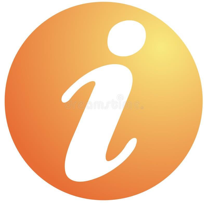 Het symbool van de informatie royalty-vrije illustratie