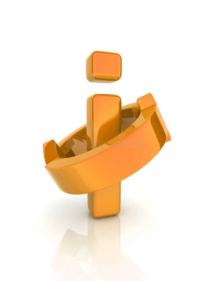 Het symbool van de informatie (sinaasappel) vector illustratie