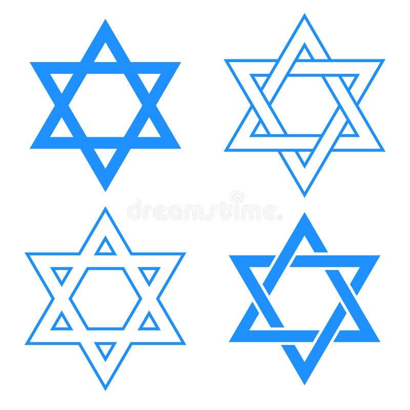 Het symbool van de jodenster vector illustratie
