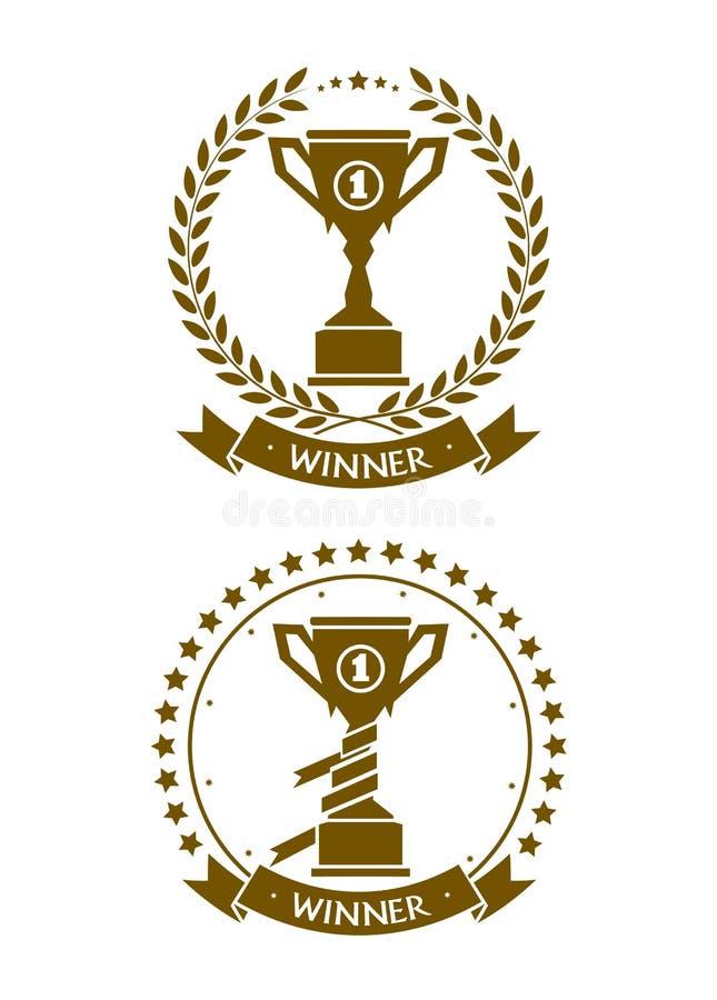 Download Het Symbool Van De Kentekenkop Van De Winnaar Vector Illustratie - Illustratie bestaande uit atleet, concurrerend: 54090467