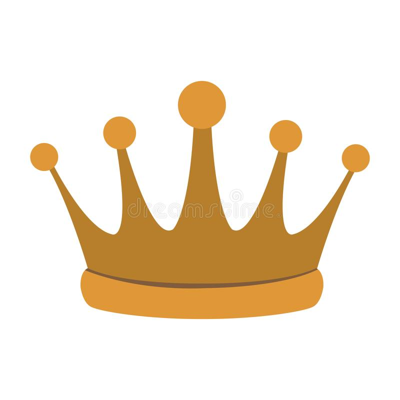 Het symbool van de koningskroon vector illustratie