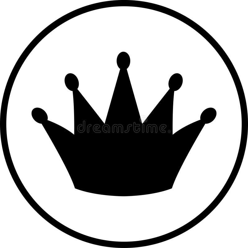 Het symbool van de kroon stock afbeelding