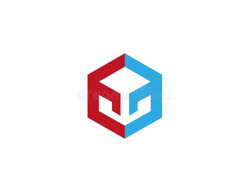 Het symbool van de labyrinttechnologie voor embleem royalty-vrije illustratie