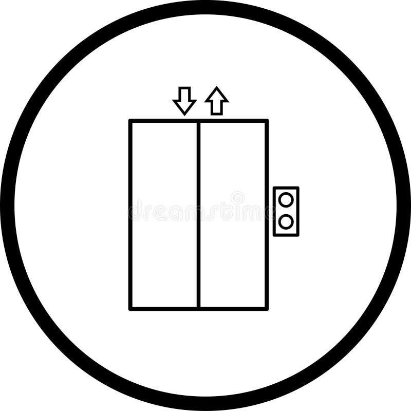 Het symbool van de lift vector illustratie