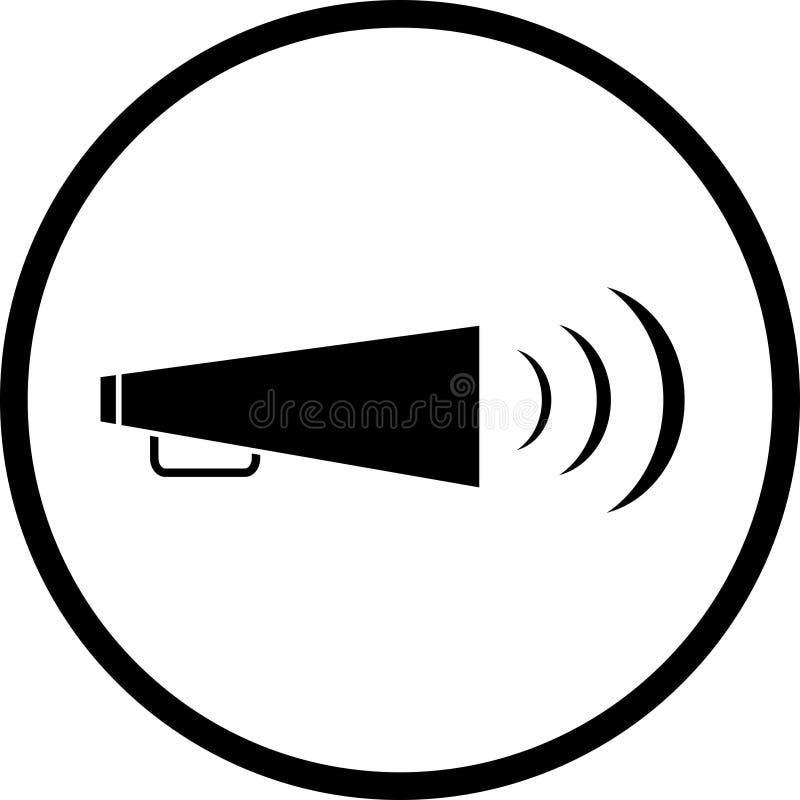 Het symbool van de megafoon stock illustratie