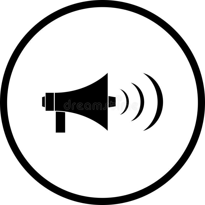 Het symbool van de megafoon of van de megafoon royalty-vrije illustratie