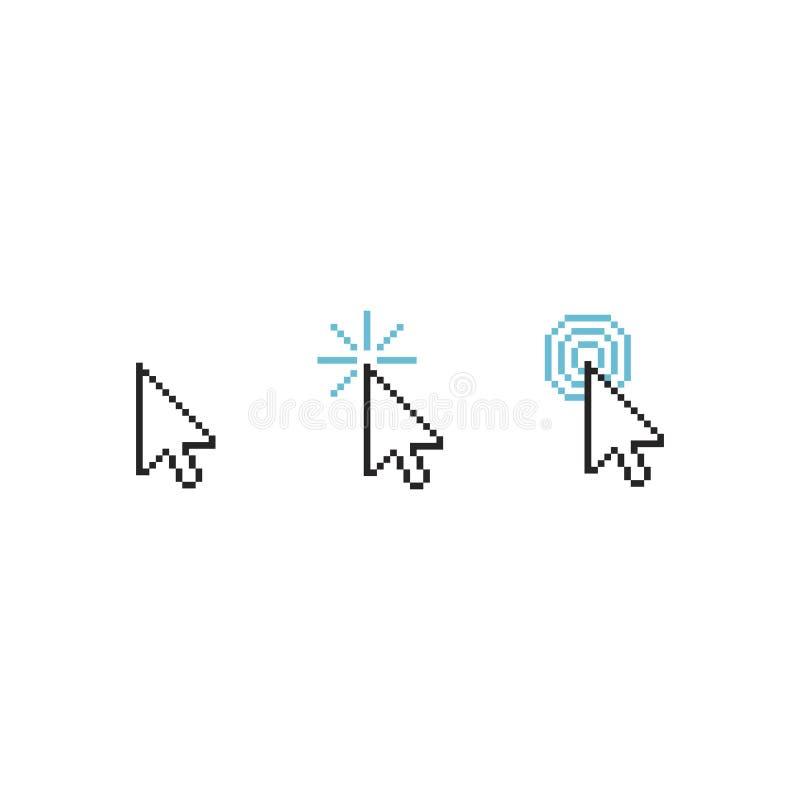 Het symbool van de muiscurseur - de pijl klikt geïsoleerde wijzerillustratie vector illustratie