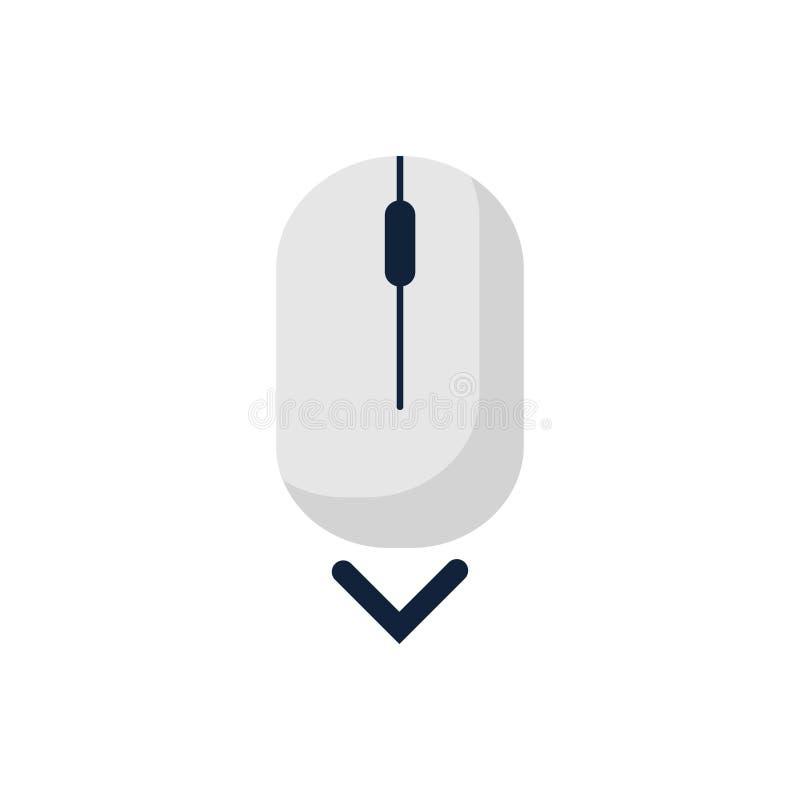 Het symbool van het de muispictogram van de rol neer omhoog computer Vlak stijlontwerp Vector illustratie stock illustratie