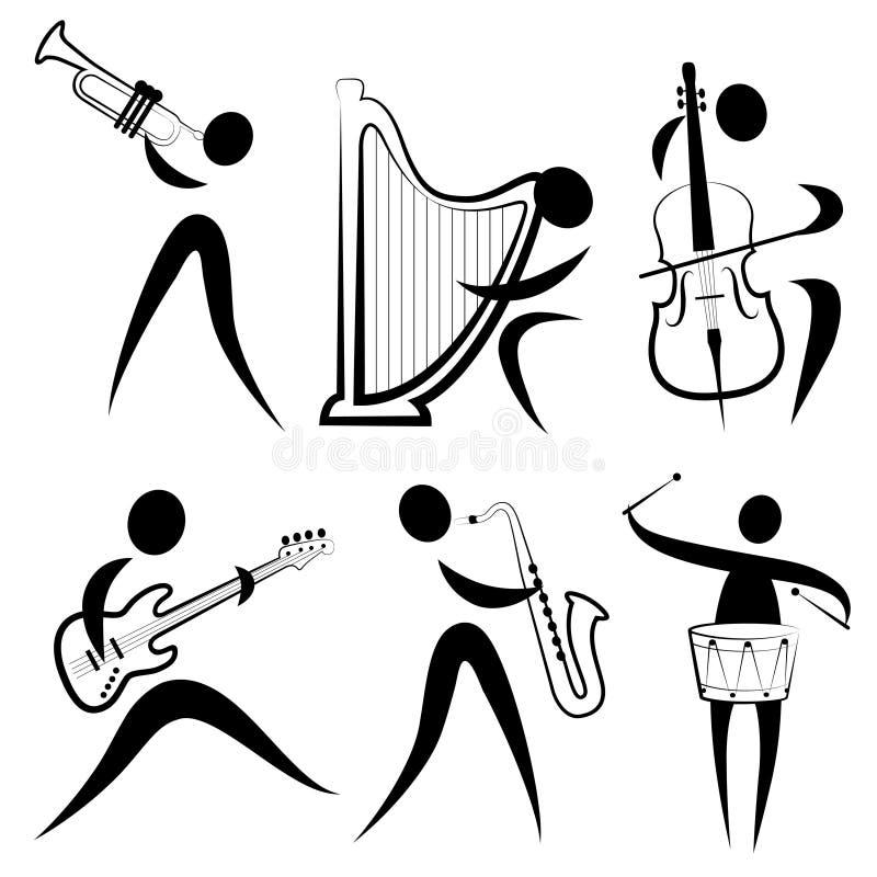 Het symbool van de musicus stock illustratie