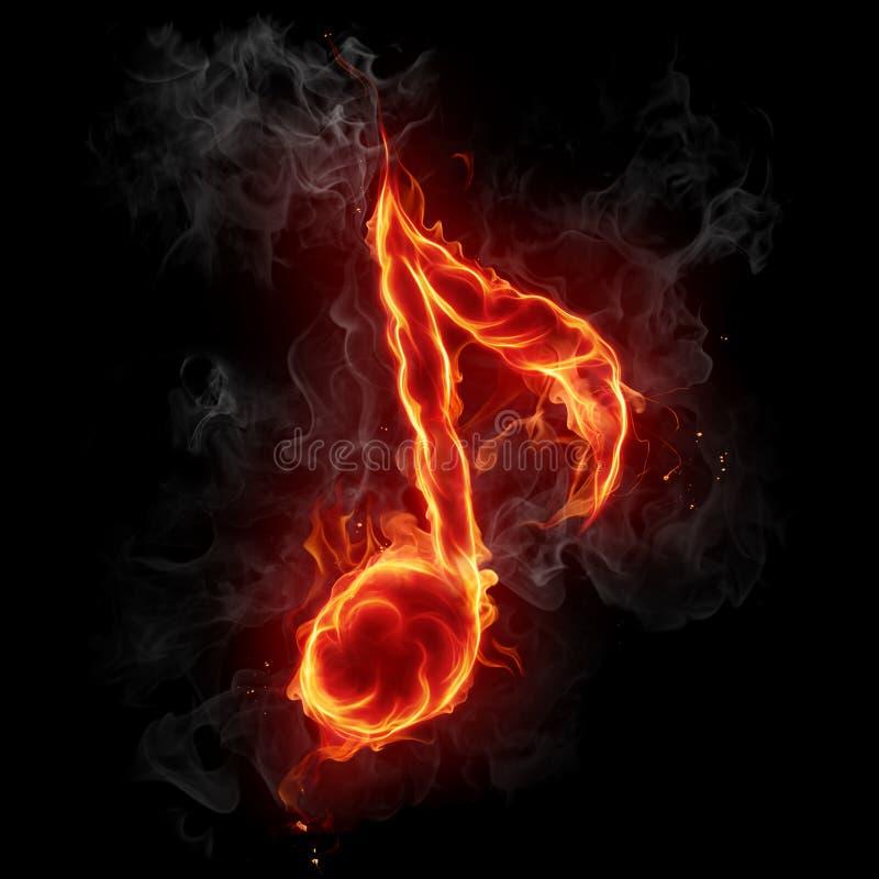 Het symbool van de muzieknoot. vector illustratie