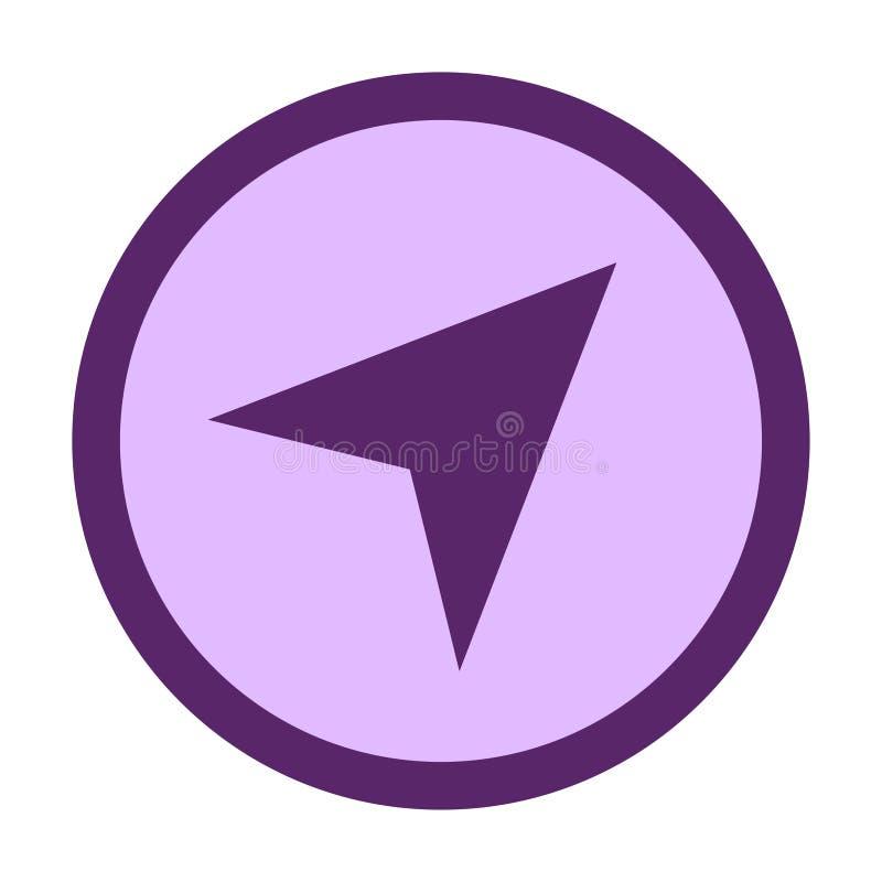 het symbool van de navigatiecirkel vector illustratie