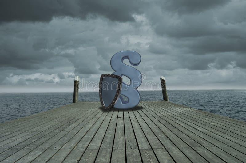 Het symbool van de paragraaf royalty-vrije stock afbeelding