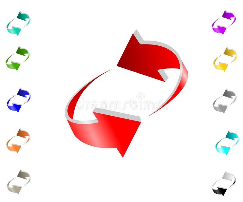 Het symbool van de pijl vector illustratie