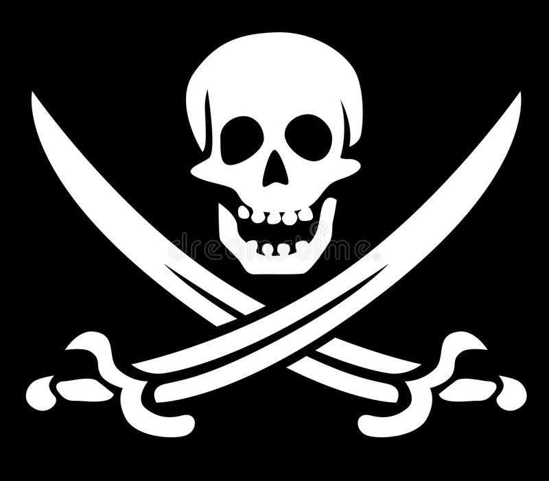 Het symbool van de piraat vector illustratie