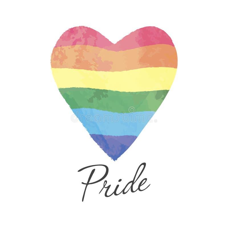 Het symbool van de regenboogvlag LGBT vector illustratie