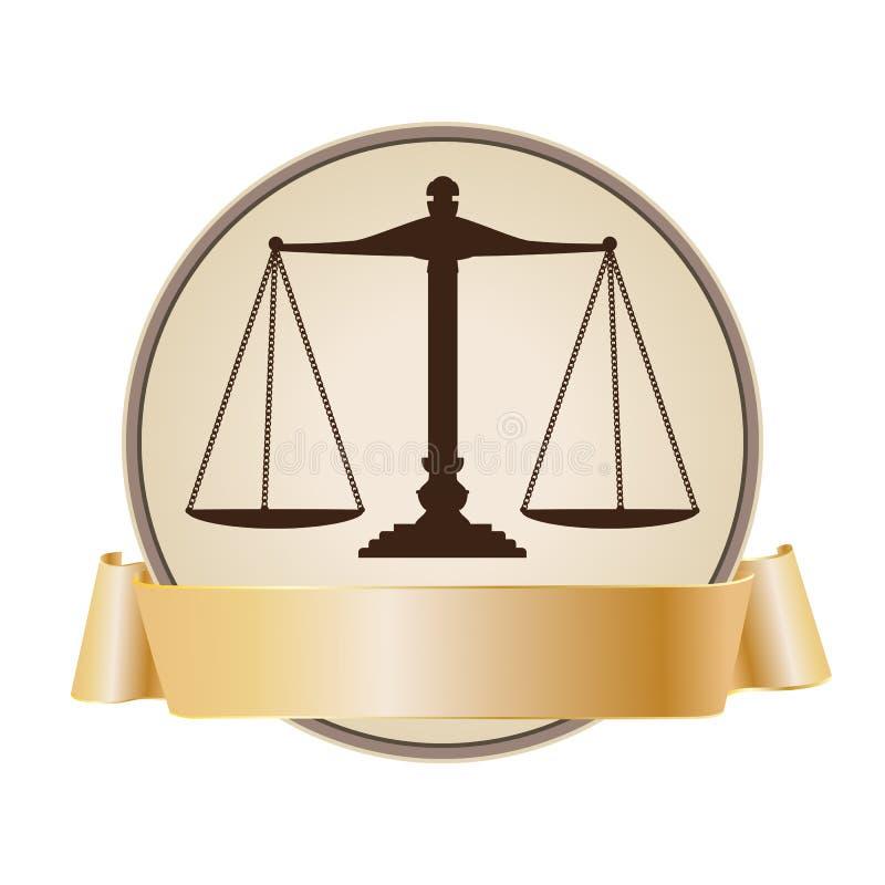 Het symbool van de schaal met lint vector illustratie