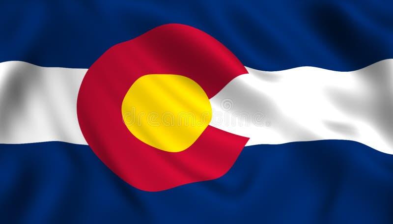 Het symbool van de staat van de V.S. van de staat van vlagcolorado royalty-vrije illustratie