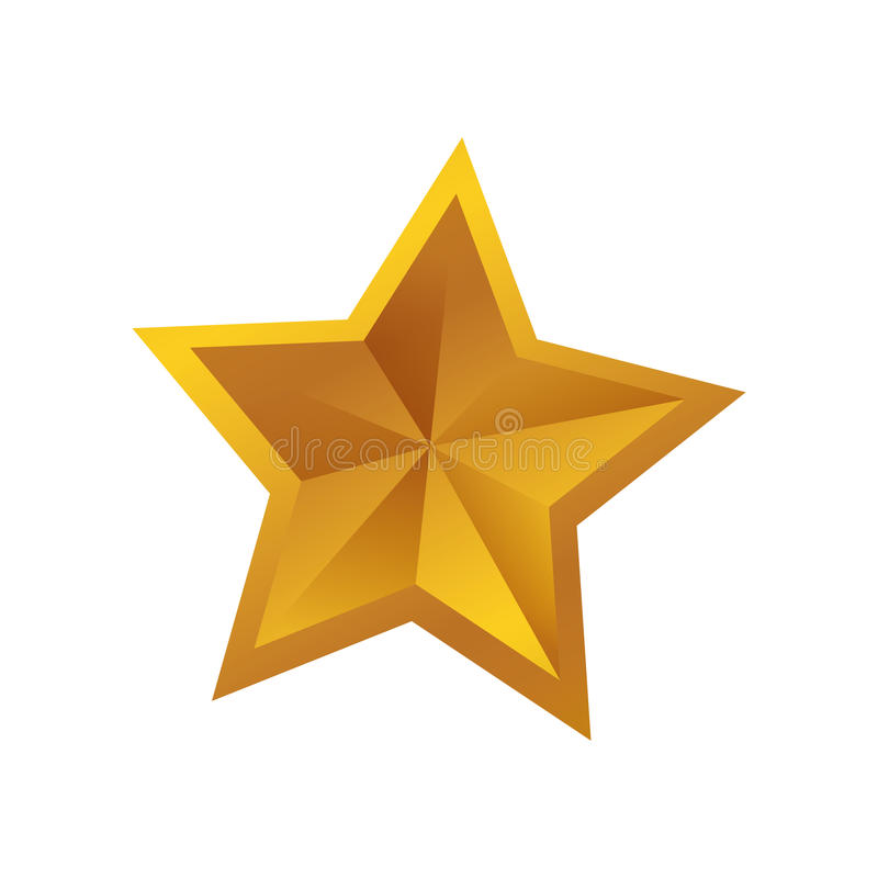 Het symbool van de stervorm stock fotografie