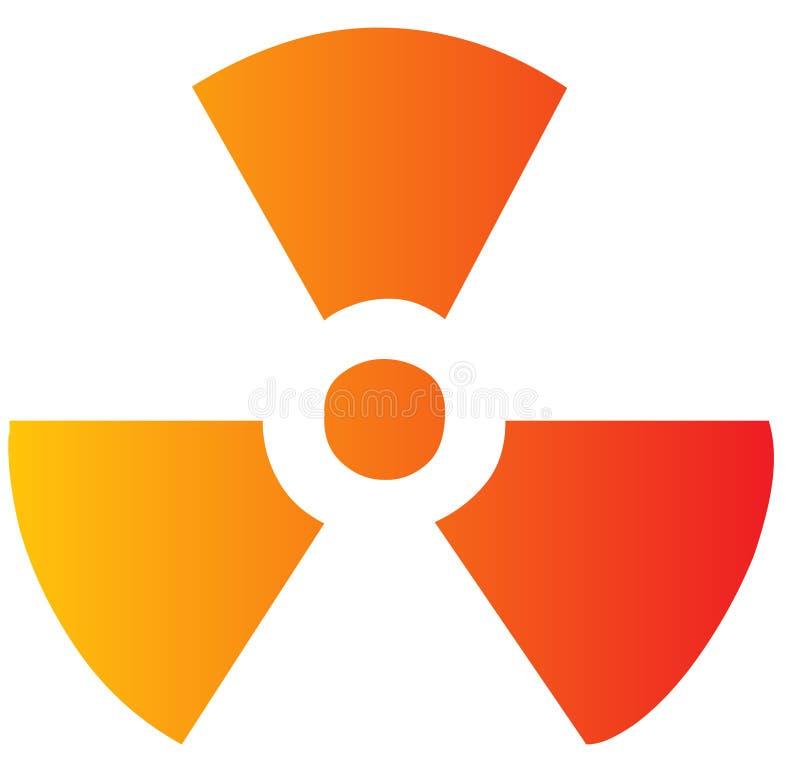 Het symbool van de straling vector illustratie