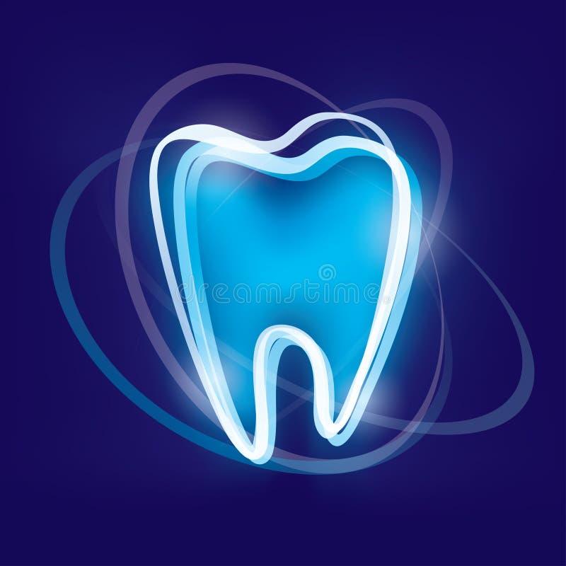 Het symbool van de tandbescherming vector illustratie