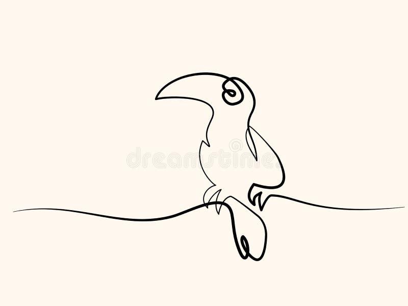 Het symbool van de Tukanvogel royalty-vrije illustratie