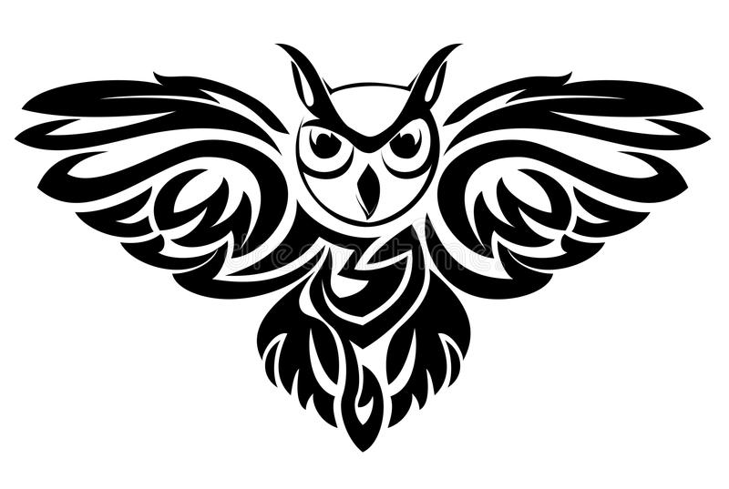 Het symbool van de uil vector illustratie