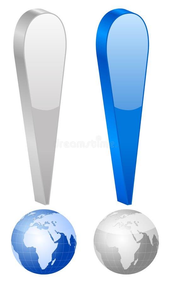 Het symbool van de uitroep vector illustratie