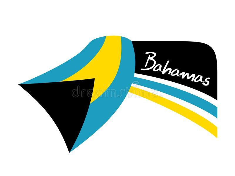 Het symbool van de de vlagbanner van de Bahamas vector illustratie