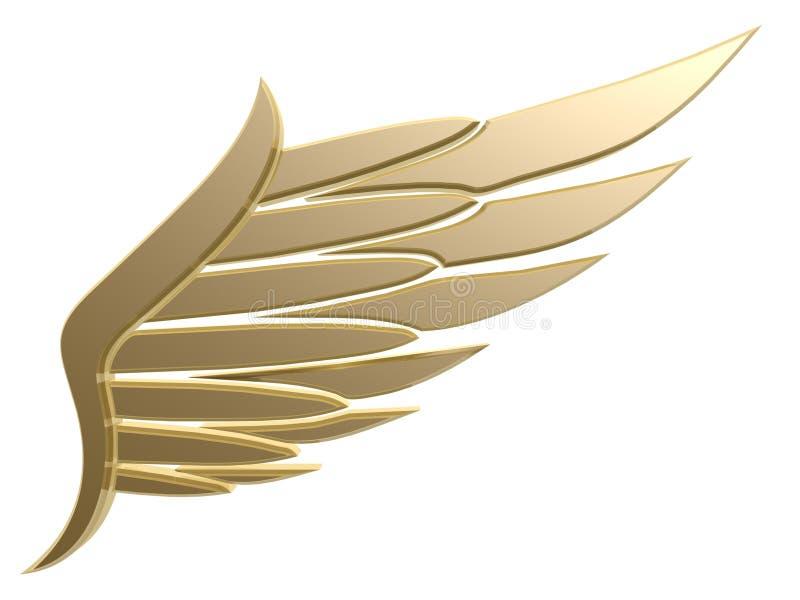 Het symbool van de vleugel royalty-vrije illustratie