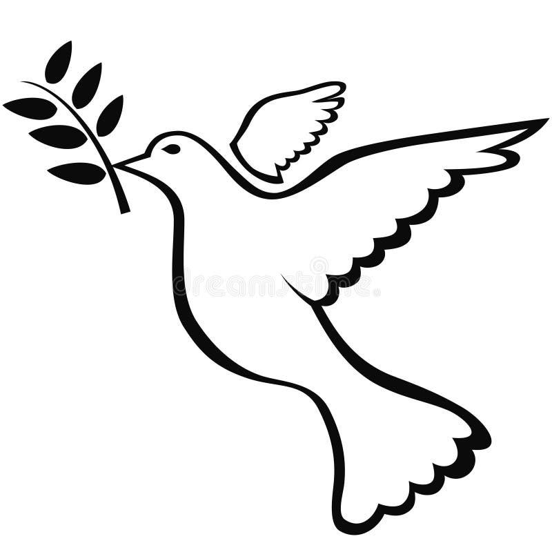 Het symbool van de vredesduif royalty-vrije illustratie