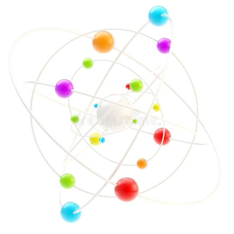 Het symbool van de wetenschap als complexe molectule vector illustratie