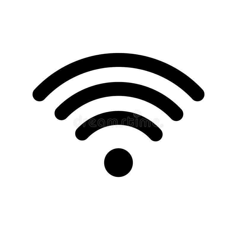 Het symbool van de Wifitechnologie Radio en Wifi-Pictogram Teken voor verre internettoegang Podcast vectorsymbool eenvoudige vect vector illustratie