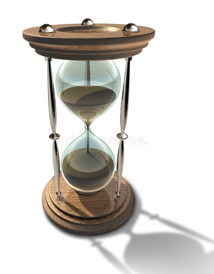 Het symbool van de zandloper van tijd vector illustratie