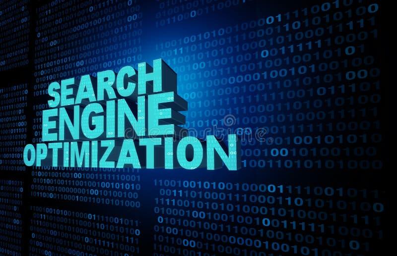 Het symbool van de zoekmachineoptimalisering vector illustratie
