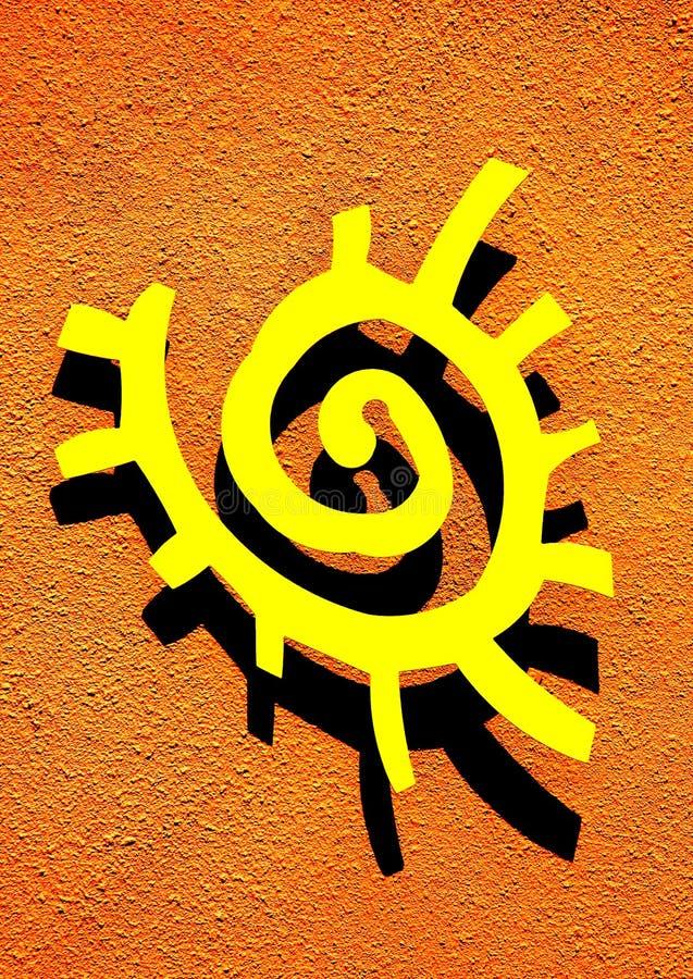 Het symbool van de zon stock foto