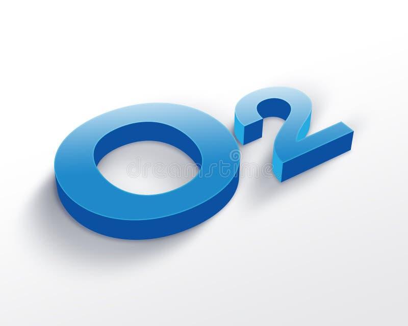 Het symbool van de zuurstof royalty-vrije illustratie