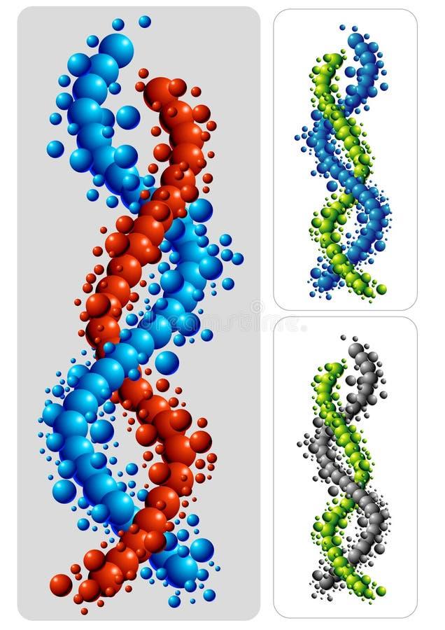 Het symbool van DNA royalty-vrije illustratie