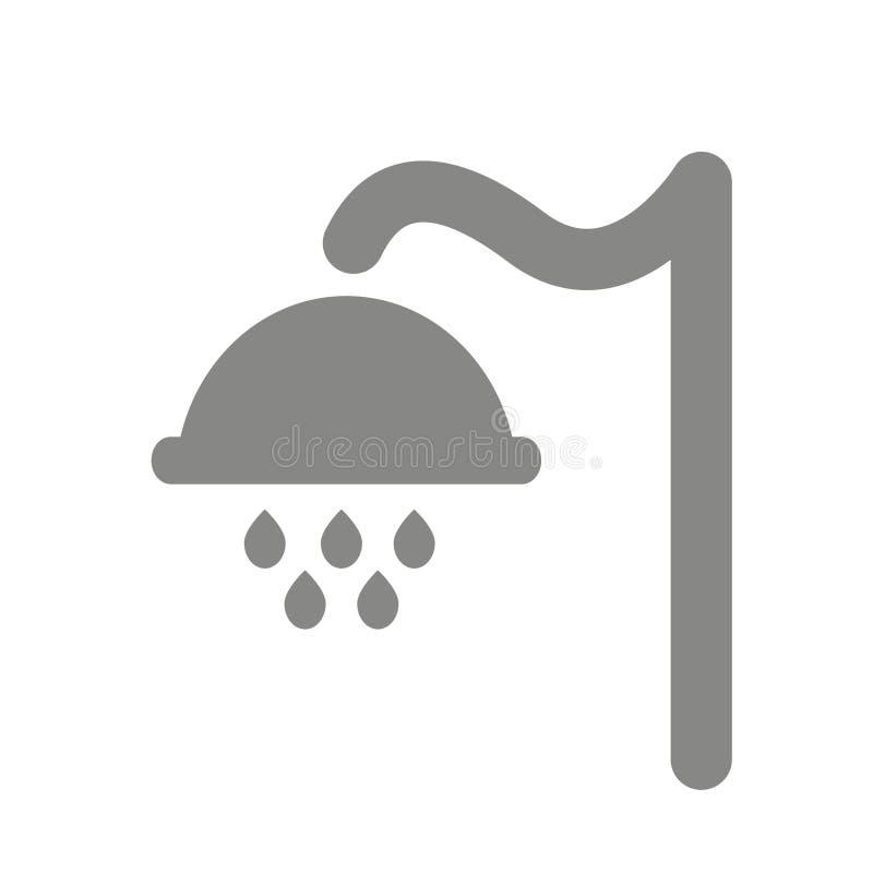 Het Symbool van het douchepictogram Grafische elementen voor uw ontwerp stock foto