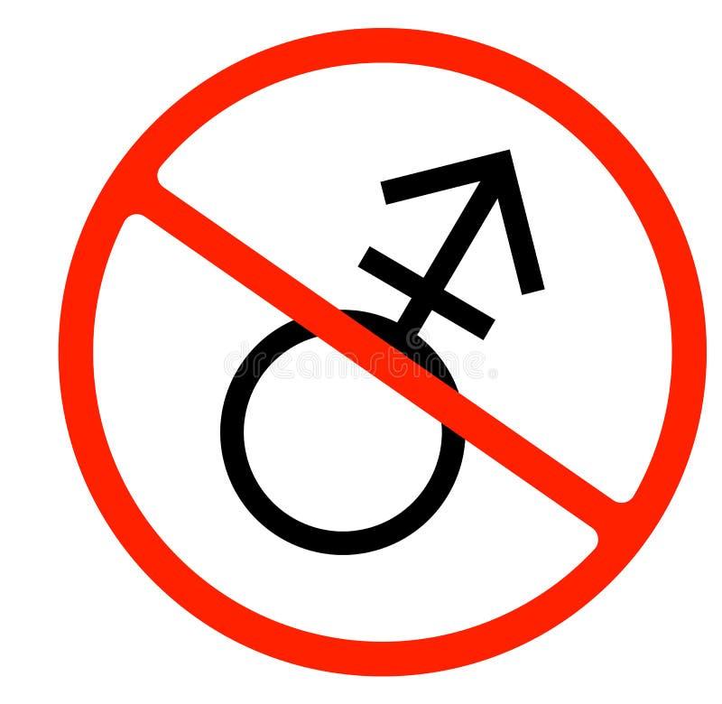 Het Symbool van het geslacht Lineair symbool eenvoudig transsexueelpictogram Toegestaan niet vector illustratie