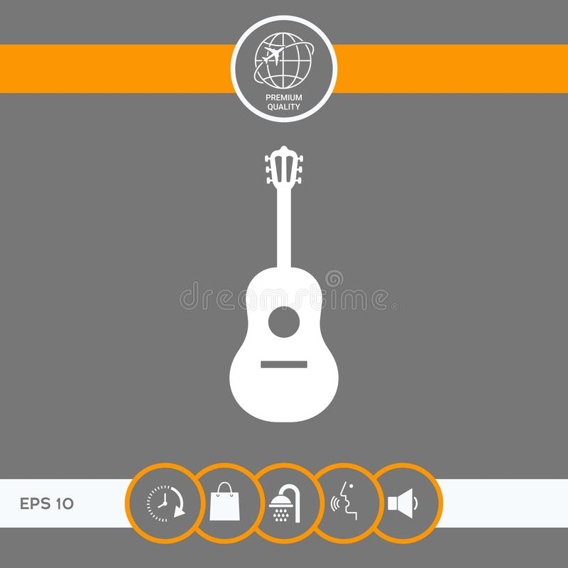 Het Symbool van het gitaarpictogram royalty-vrije illustratie