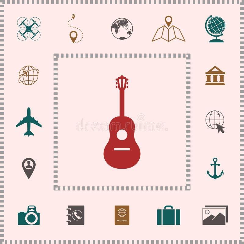 Het Symbool van het gitaarpictogram vector illustratie