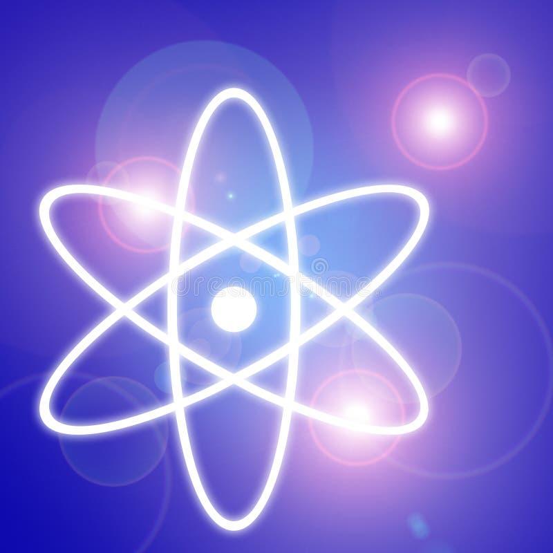 Het symbool van het atoom stock illustratie