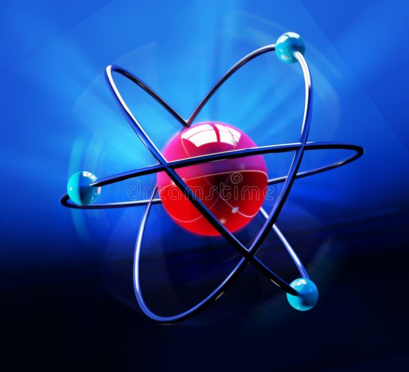 Het symbool van het atoom vector illustratie