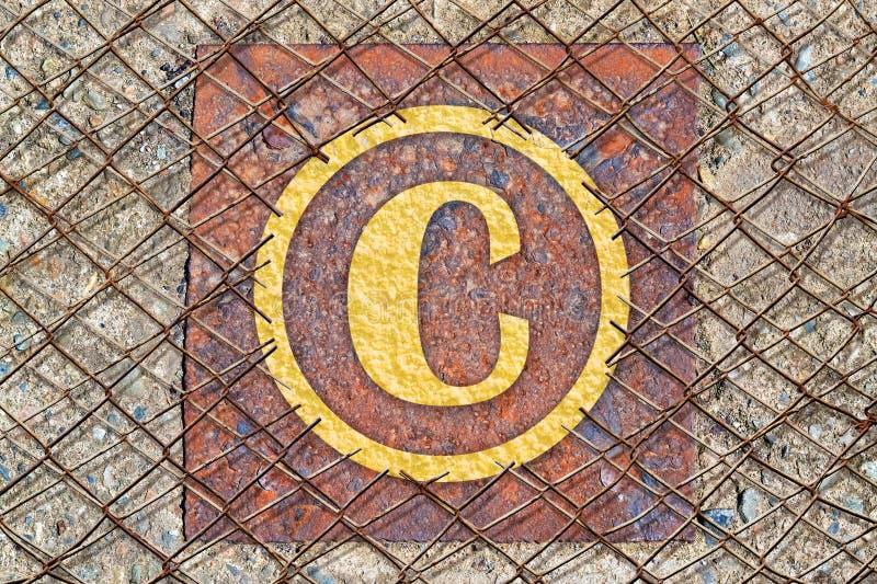 Het symbool van het auteursrecht royalty-vrije stock foto's