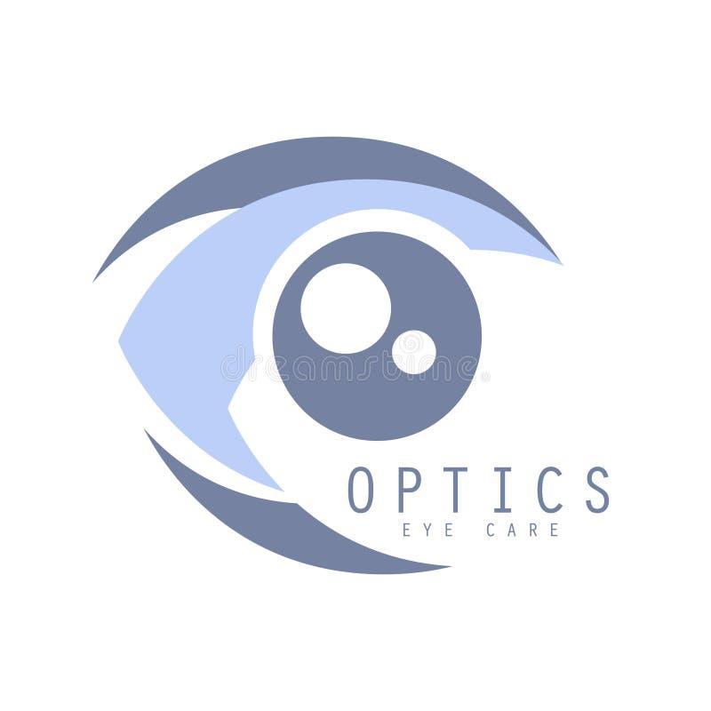 Het symbool van het de zorgembleem van het opticaoog, vectorillustratie royalty-vrije illustratie