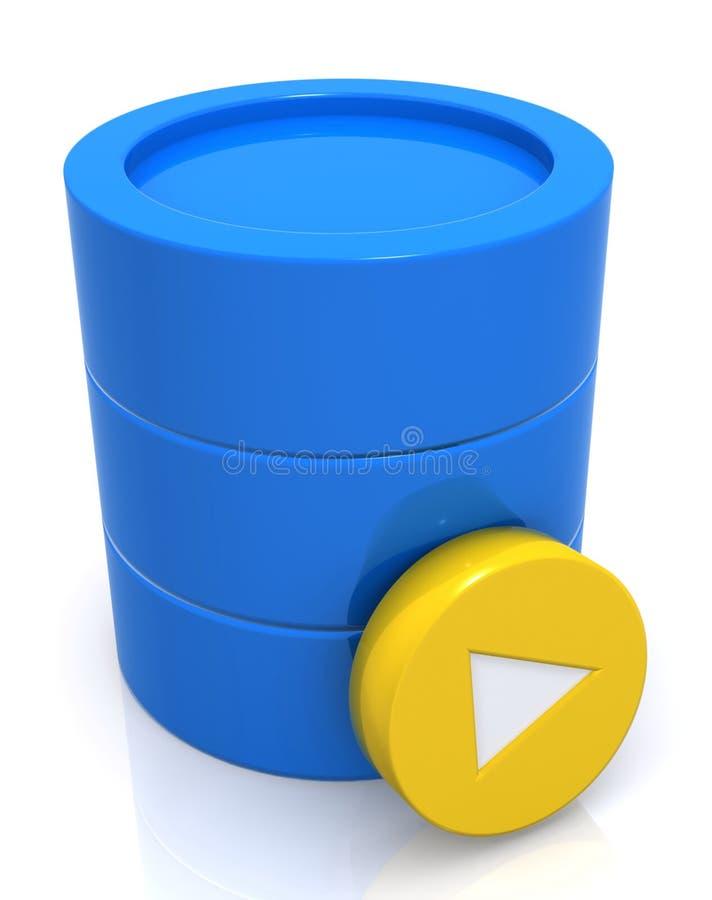 Het Symbool van het gegevensbestand stock illustratie