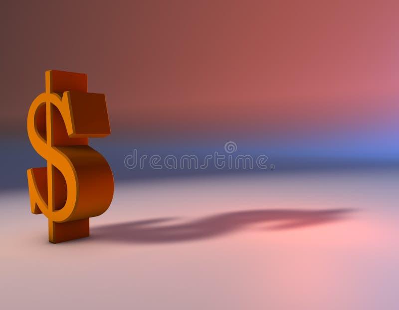 Het symbool van het geld royalty-vrije illustratie