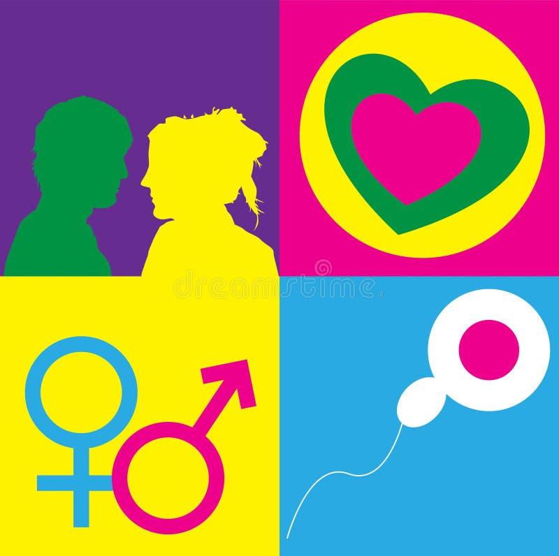 Het Symbool van het geslacht vector illustratie